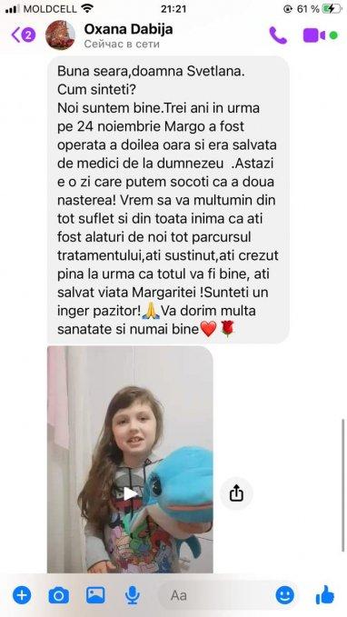 Margarita Dabija va multumeste pentru viata!